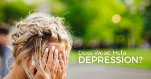 cannabis help depression logo