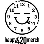 happy 420 merch logo