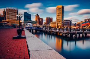 Harbor at Baltimore Maryland