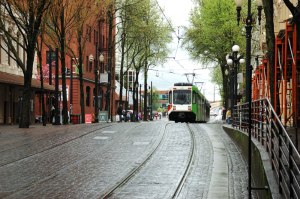 Downtown Portland, Oregon Street Car