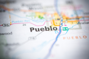 Map of Pueblo, Colorado