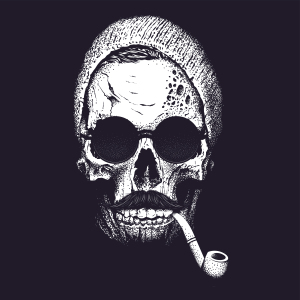 Skull Smoking Marijuana Overdose