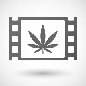 Marijuana Leaf on Film