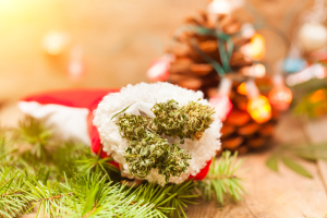 Weed in Stocking Holiday Shopping
