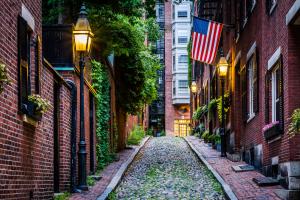 Acorn Street in Boston Massachusetts