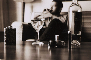 Black and White Alcohol and Weed