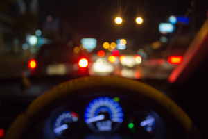 Blurry Night Traffic Lights