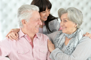 Parents Happy with Adult Daughter