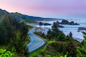 Sunrise Over Oregon Coast Highway