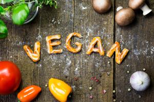 Vegan Spelled in Veggies