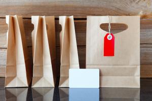 Four Brown Shopping Bags