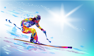 Low Poly Skier
