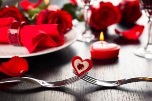 Valentine's Day Dinner Setting