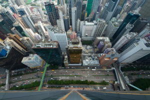 View from Top of Building in Hong Kong
